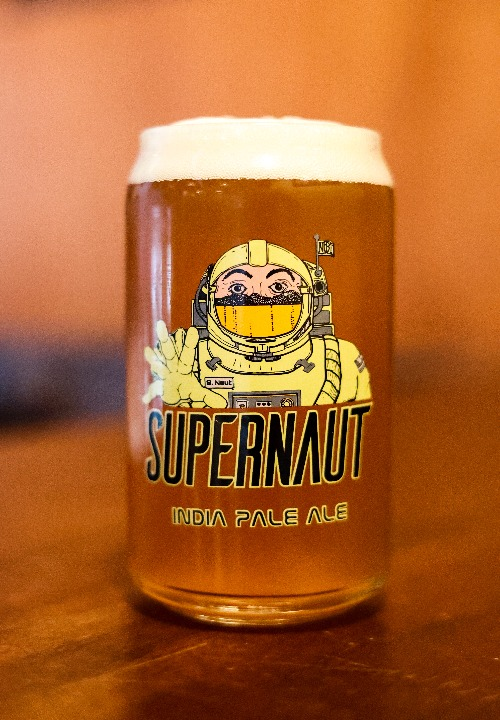 Supernaut Can Shaped Glass