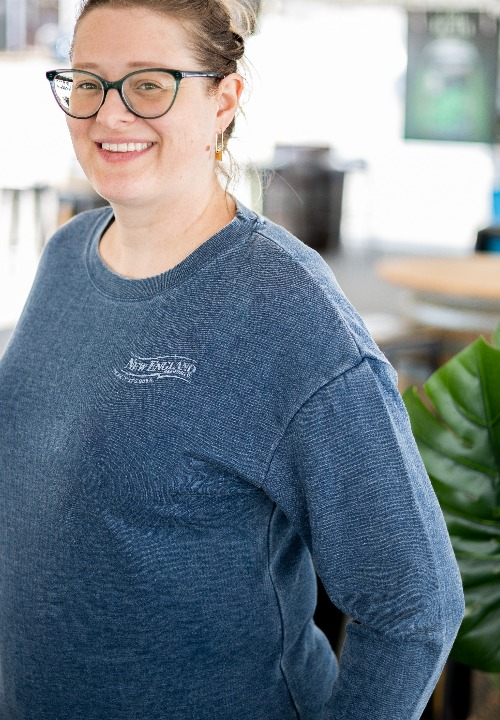 Womens Faded Blue Crew Neck