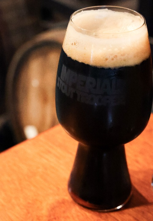 IST Etched Stout Glass