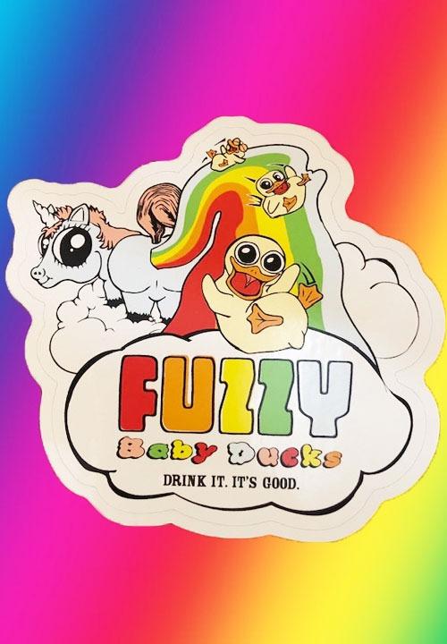 Fuzzy Baby Ducks Sticker